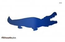 Crocodile Drawing Silhouette Art