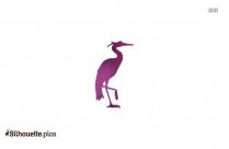 Crane Bird Silhouette Vector