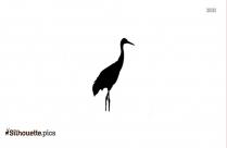 Sarus Crane Bird Silhouette Image
