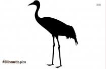 Sarus Crane Clip Art Image Silhouette