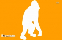 Baby Monkey Cartoon Picture Silhouette