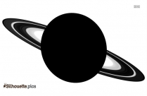 Saturn Silhouette Black And White