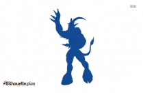 Satyr Silhouette Background