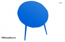 Saucer Chair Silhouette Clipart