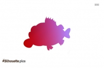 Black Trout Fish Silhouette Image