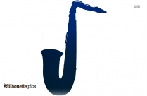 White Banjo Silhouette