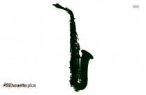 Saxophone Black And White Silhouette