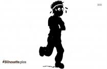 Scared Man Running Clip Art Silhouette