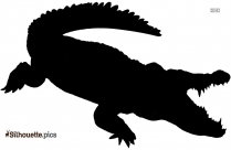 Crocodile King Silhouette