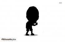 Scary Forehead Zombie Silhouette