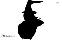 Scary Witch Silhouette Vector