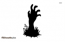 Scary Zombie Hands Silhouette