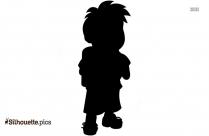 Cartoon Little Boy Silhouette
