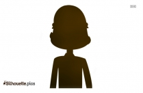 Girl With Headphone Logo Silhouette For Download