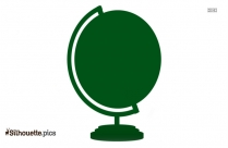 School Globe Clipart Silhouette