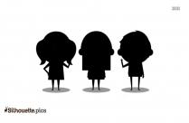 Kids Stick Figures Silhouette
