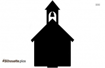 Schoolhouse With Bell Silhouette Vector