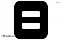 Science Equal Sign Icon Silhouette
