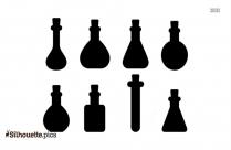 Scientific Flask Silhouette Illustration
