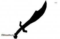 Scimitar Silhouette Clipart