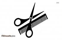 Scissors Comb Hair Tool Silhouette