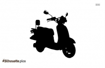 Cartoon Motorcycle Silhouette Clip Art