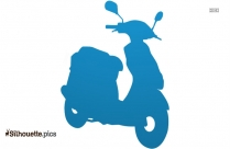Little Motor Scooter Clip Art Silhouette
