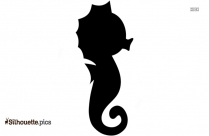 Sea Horse Silhouette Image
