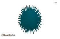 Sea Urchin Silhouette Illustration