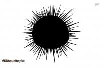 Sea Urchin Silhouette Clip Art