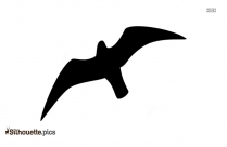 Seagull Outline Silhouette, Vector Art