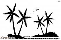 Palm Island Silhouette