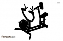 Seated Row Machine Logo Silhouette For Download