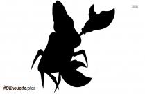Sebastian The Crab Silhouette Free Vector Art