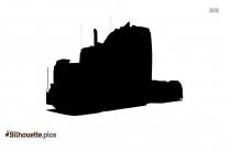 Semi-trailer Truck Silhouette Free Vector Art