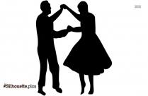 Old Couple Dancing Silhouette