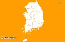 Seoul Map Silhouette