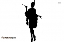 Sequin Flapper Dress Costume Silhouette