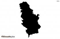 Saudi Arabia Map Silhouette Vector