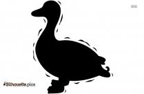 Shaking Duck Clip Art Silhouette