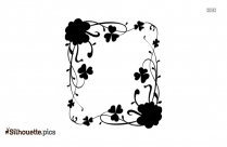 Shamrock Flower Frame Silhouette Vector And Graphics