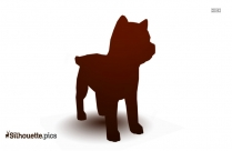 Black And White Airedale Terrier Silhouette