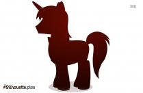 Cute Unicorn Silhouette Free Vector Art