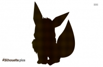 Cartoon Shiny Vaporeon Silhouette