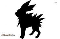 Shiny Jolteon Silhouette Clipart