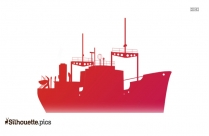 Oil Vessel Cartoon Silhouette Image And Vector