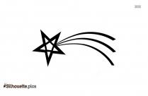 Shooting Star Silhouette Free Vector Art