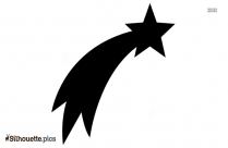 Shooting Star Silhouette Icon