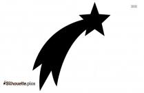 Shooting Star Simple Silhouette