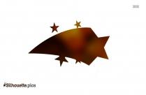 Shooting Stars Silhouette Icon